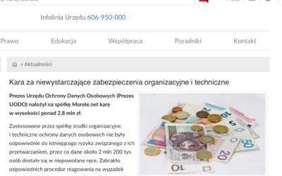 UODO nałożył karę na morele.net za wyciek danych